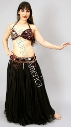 Sparkling Velvet Bugundy - Bra & Belt Set