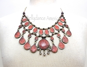 Tribal Necklace - Pink Large