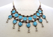 Tribal Necklace - Turquoise Round