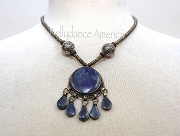 Tribal Necklace - Lapis Round