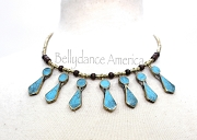 Tribal Necklace - Lapis Points