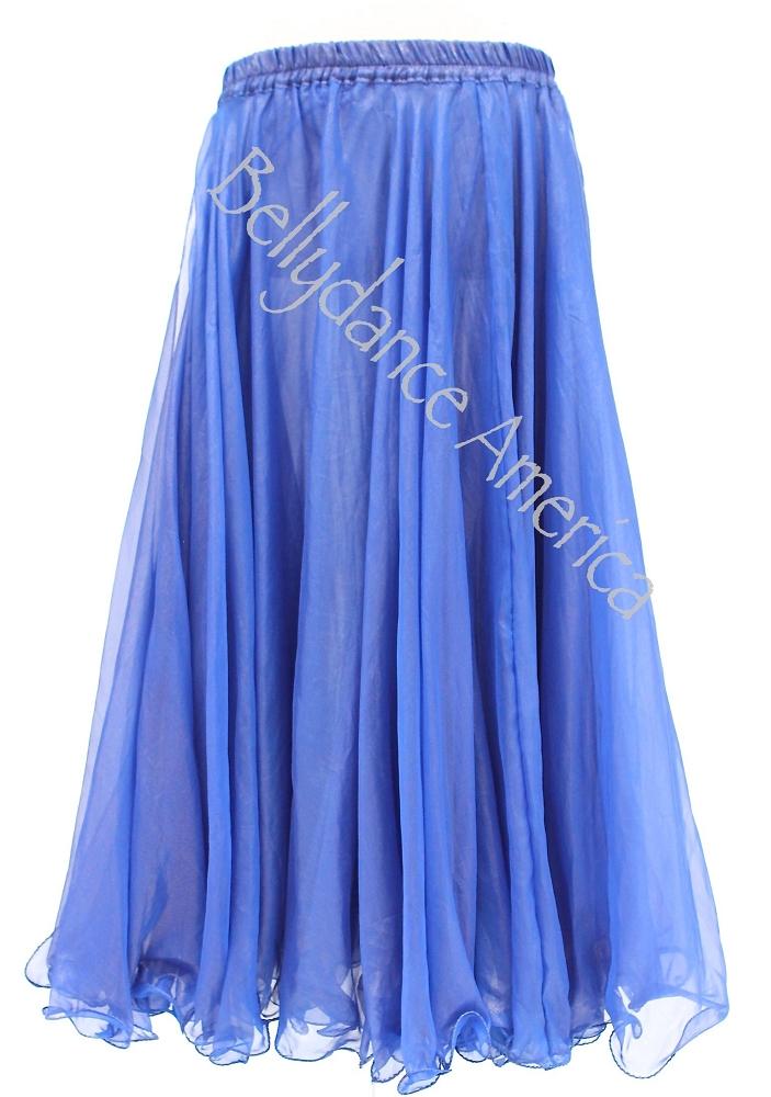 layer chiffon skirt royal blue shimmer