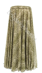Single Layer Chiffon Skirt - Green Mini Animal Print