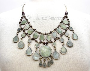 Tribal Necklace - Sage Green Large