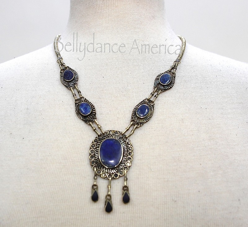 Tribal Necklace - Lapis Pendant
