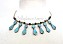 Tribal Necklace - Turquoise Points