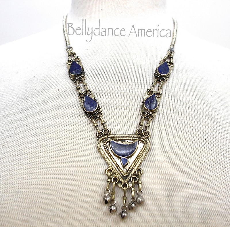Tribal Necklace - Lapis Triangle