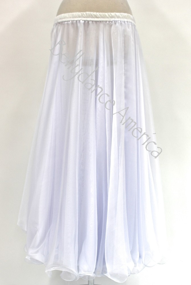 Double Layer Chiffon Skirt - White